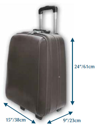 Recommended luggage dimensions