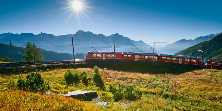 The Bernina Express and St Moritz