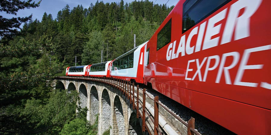 The Glacier Express to Davos