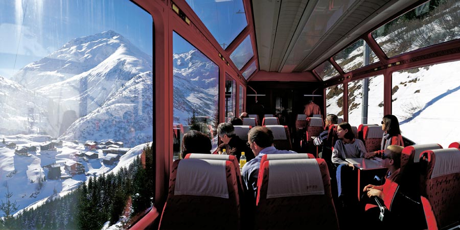 Glacier Express All Inclusive in Winter
