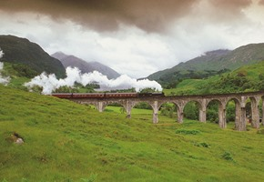 The Jacobite steam train Glenfinnan viaduct