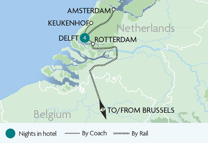 The Netherlands in Springtime Tour Rail Discoveries