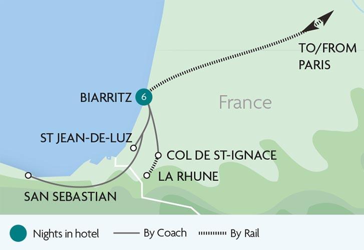 biarritz the atlantic tours rail discoveries. Black Bedroom Furniture Sets. Home Design Ideas