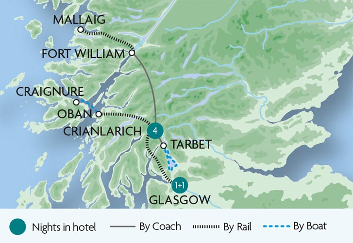 Train Tours and Holidays in Scotland – Train Travel In Scotland Map