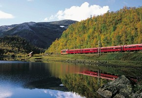 Bergen Railway passing a lake