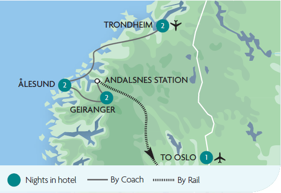 Northern fjords the atlantic road rail tours rail discoveries view full size map publicscrutiny Choice Image