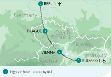 City Breaks Rail Tours Holidays Rail Discoveries - Map of europe with capital cities