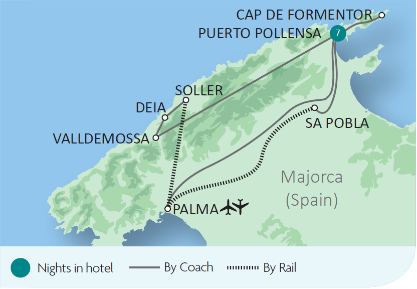 Majorca the Orange Express Tour Rail Discoveries