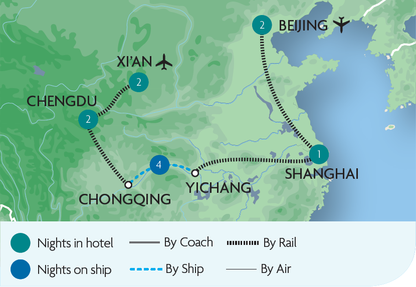 Esscorted Rail Tours & Holidays in China