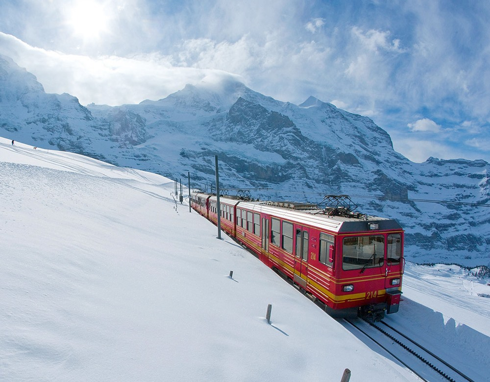 Jungfrau Railway in Winter