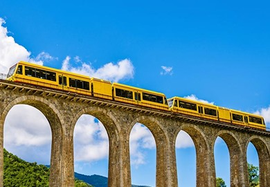 The Little Yellow Train of the Pyrenees