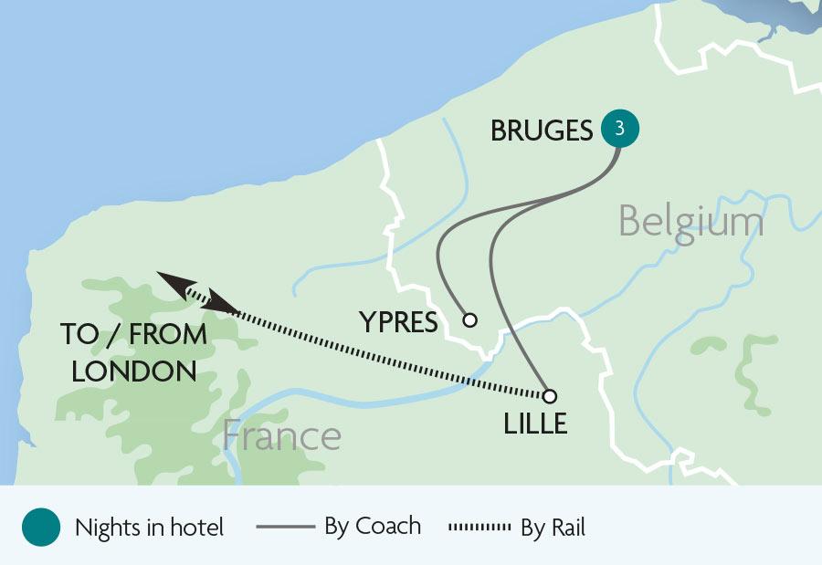 Bruges France Map.A Short Break In Bruges Rail Tours Rail Discoveries