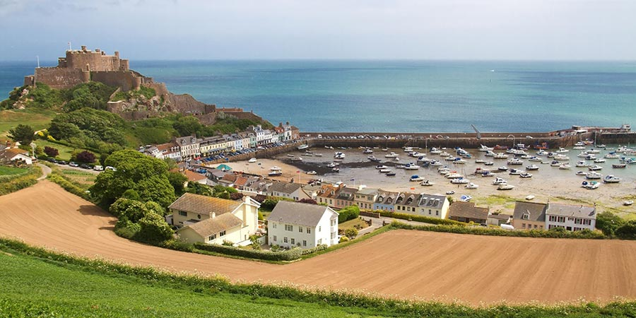 Gorey with Mont Orguell Castle, Jersey