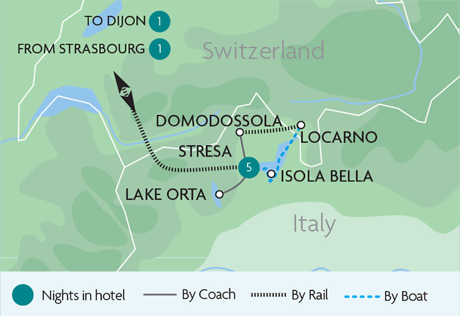 Rail Tours Holidays to Stresa Rail Discoveries