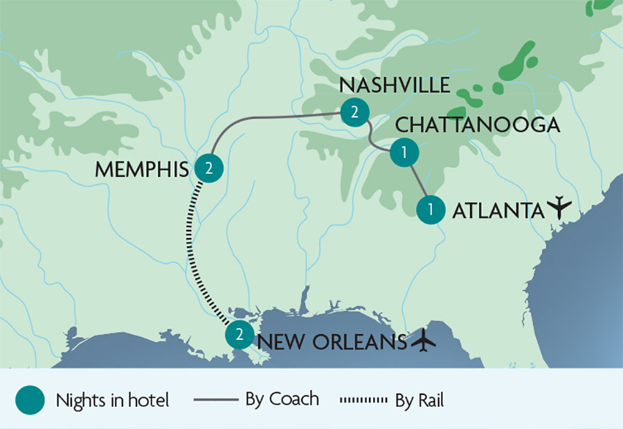 America\'s Deep South Tours | Rail Discoveries