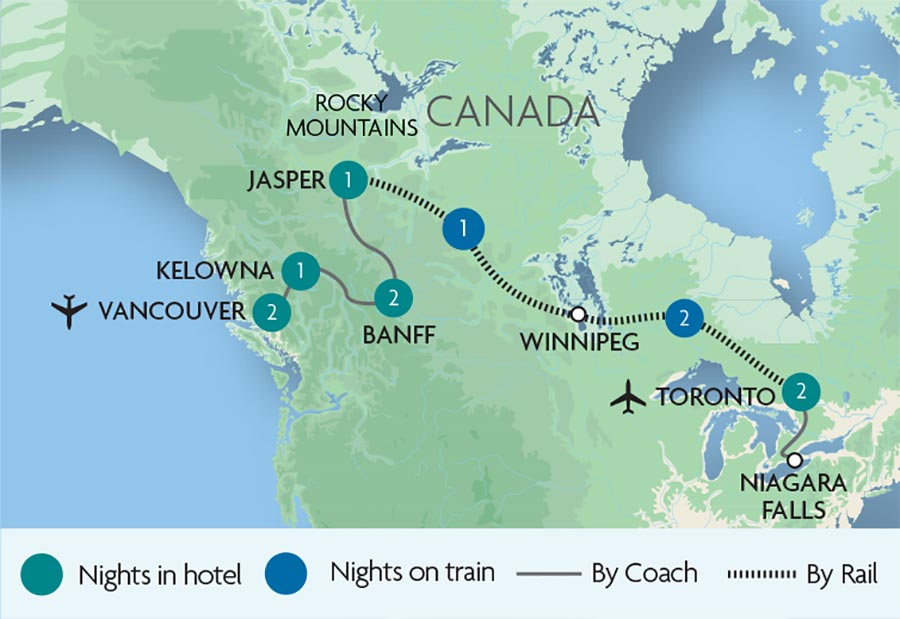 Escorted Train Tours Rail Holidays In Canada Rail Discoveries