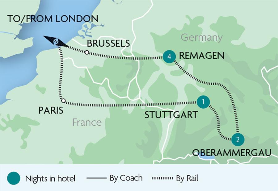 Oberammergau & the Rhine Valley Rail Tours | Rail Discoveries