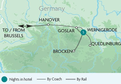 The Harz Mountains - Brocken Railway